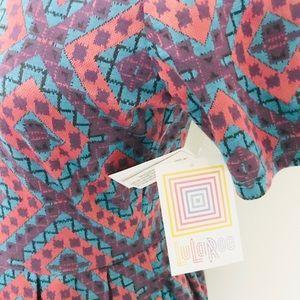 LuLaRoe Dresses - Lularoe Amelia diamond geometric pattern dress NWT